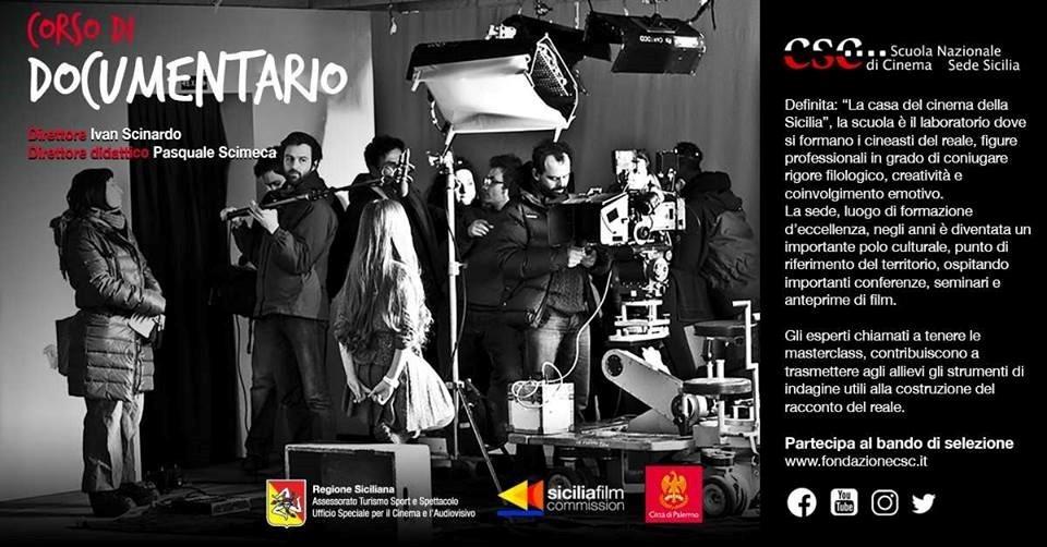 Immagine di Pubblicazione bando Sede Sicilia CSC - Corso di Documentario