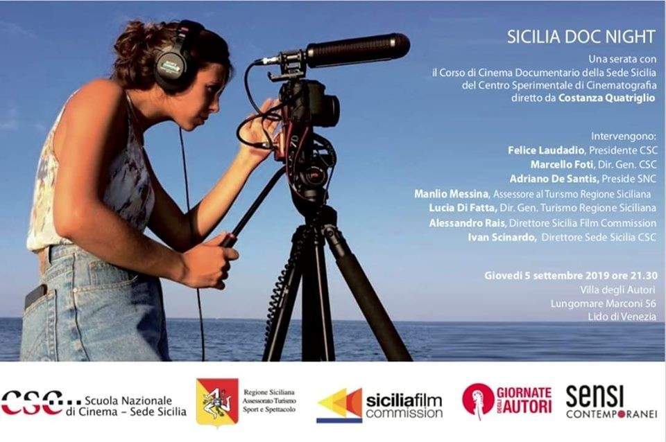 """Picture of """"Sicilia Doc Night"""" alla 76a Mostra internazionale del Cinema di Venezia"""